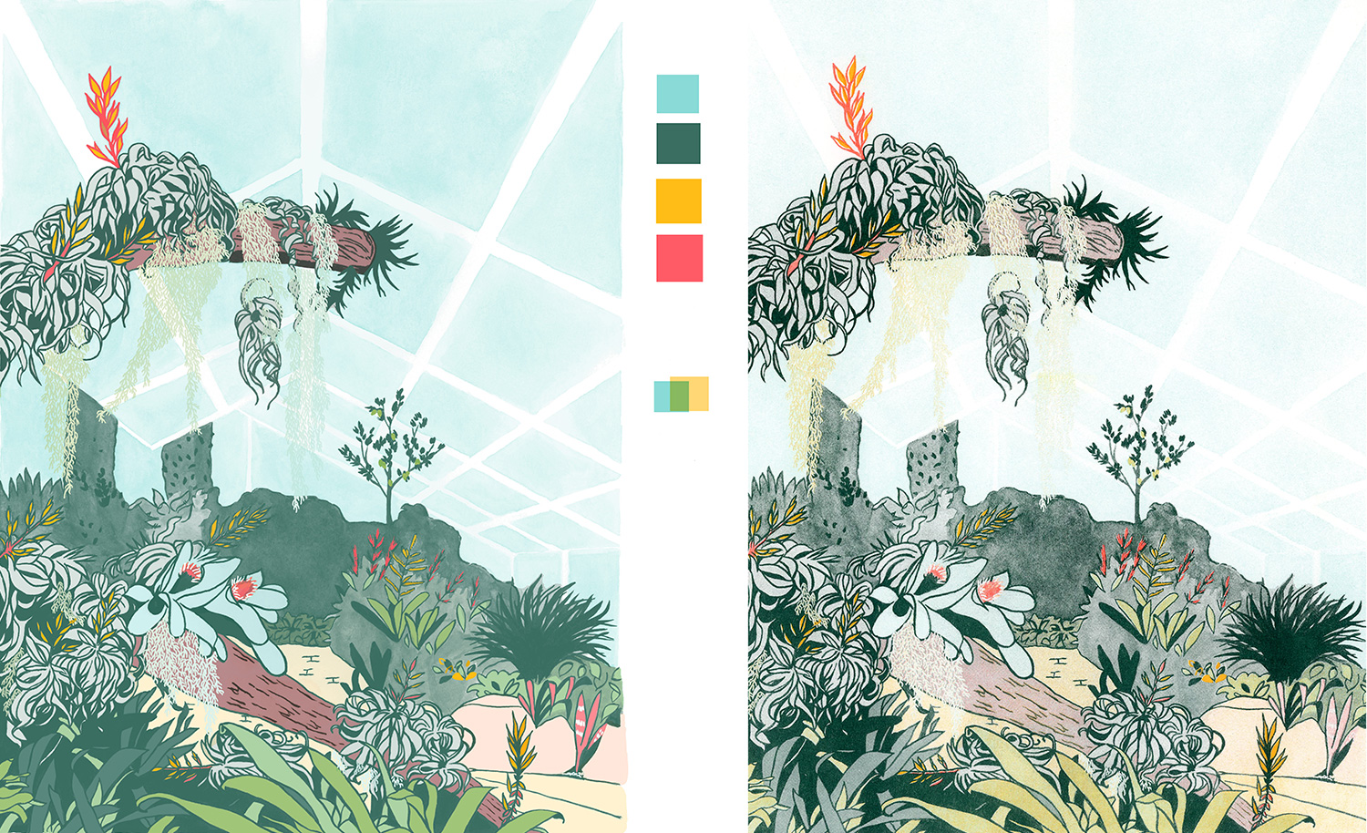 Kew Gardens Riso Print Expectation Vs. Reality